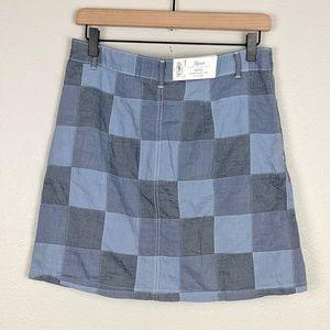 Croft & Barrow Patchwork Cotton Skort NWT Size 6
